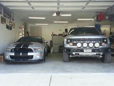 2013 Ford Shelby Mustang & Ford F150 Raptor. Perfect garage.