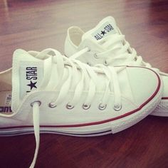 #converse #shoes #white Really want the white converse!