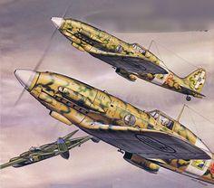 Macchi Mc 202 attacking a P 38 Air Force Aircraft, Ww2 Aircraft, Fighter Aircraft, Military Aircraft, Italian Air Force, Aircraft Painting, Airplane Art, Fun World, Aviation Art