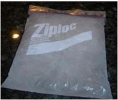 Homemade Ice Packs  You'll need:     1 Big Ziploc Bag     1 Part rubbing alcohol     3 Parts water           The result is that when it freezes it never hardens so you can manipulate it.An easy and cheap way to make a homemade ice pack.