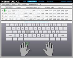 User interface of by bachelor thesis/website. Online typing tutor. http://nedatluj.cz/
