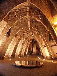 barcelona gaudi attic - Photo by Thom Ortiz Beautiful Architecture, Art And Architecture, Art Nouveau, Antoni Gaudi, Architectural Elements, Spiral Staircase, Bricks, Places, Ancient Architecture