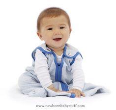 Baby Boy Clothes Baby Deedee Sleep Nest Lite Baby Sleeping Bag, Heather Blue, Large (18-36 Months)