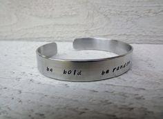 inspirational quote saying be random silver aluminum by Amayeli, $20.00