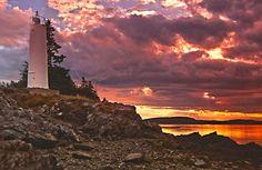 DEER ISLAND LEANING LIGHT, New Brunswick, Canada