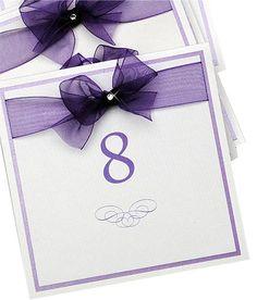Purple Table Number Idea
