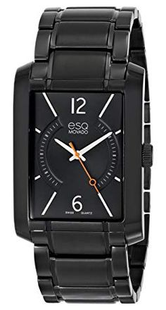9bd8ce3c2aa ESQ Movado Men s 07301411 esq SYNTHESIS tm Rectangular Black Ion-Plated  Watch Review Esq Watches