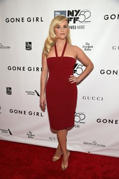 Pin for Later: LBD vs. LWD: It Was a Battle of the Neutrals on the Red Carpet This Week Reese Witherspoon Reese Witherspoon in Calvin Klein at the 2014 New York Film Festival premiere of Gone Girl.