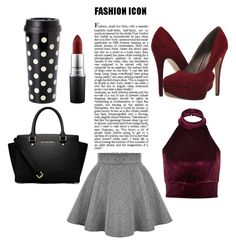 """"""""""" by rii-ppa on Polyvore featuring Kate Spade, MAC Cosmetics, River Island, MICHAEL Michael Kors, Michael Antonio, outfit and LoveIt"""