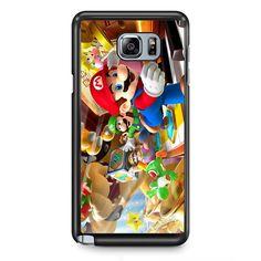 Mario Bross Game TATUM-6888 Samsung Phonecase Cover Samsung Galaxy Note 2 Note 3 Note 4 Note 5 Note Edge