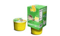Little Duck Organics Mighty Oats Coconut Banana - looks like a great first option for little mans solid foods adventure!