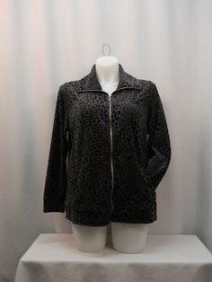 Style & Co Charcoal Gray Long Sleeves Zipper Closure Workout Jacket Plus Size 1X #Styleco #CoatsJackets