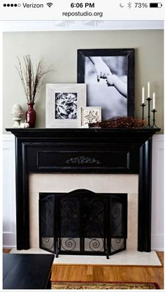 Mantle ideas · Decorating Fireplace ...
