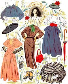 Ava Gardner paper dolls,1952