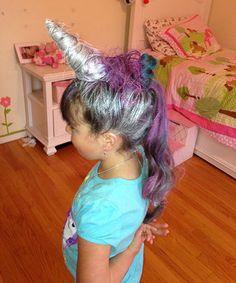 1. Unicorn horn bad hair day. Hilarious