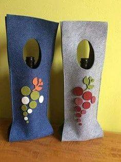 porta bottiglie in feltro
