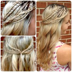 To die for: Hippie Braids Half Up & Curls. I just wish there was a pic of this from the front.