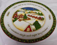 """A Christmas Story"" by Susan Winget Portmeirion Studio  Dinner Plates- Series 2 #PortmeirionStudio"