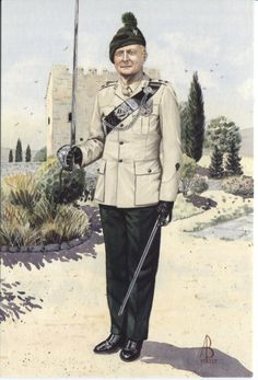 Alix Baker Postcard - AB18/4 Commanding Officer, 1st Bn Royal Irish Regiment, Cyprus 1993 (No4 Dress)