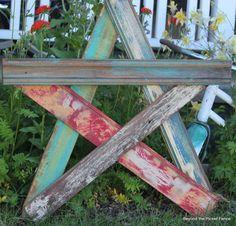 Salvaged Star, XXL Version http://bec4-beyondthepicketfence.blogspot.com/2013/06/salvaged-star-xxl-version.html