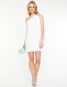 Le Château: One Shoulder Chiffon Dress - need something similar for Cruise 2014!