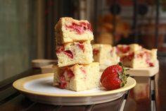 Strawberry and White Chocolate Blondies