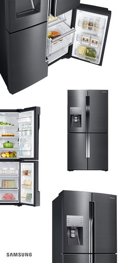 For a refrigerator as unique as it is cutting-edge, say hello to the Samsung 4-Door Flex. Its black stainless steel truly pops against subway tile and marble, setting your kitchen and fridge decor miles apart from your neighbors'. Plus, it's engineered with the most advanced technology, allowing you to transform the fourth door from a freezer to fridge with just the touch of a button.