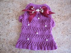 Dog Sweater Purple    By Nina's Couture Closet