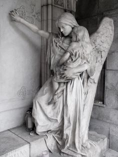 Angel statue in the graveyard of Trzic, Slovenia by ~lordradi.I used to desire an angel statue for the garden, but after and the weeping angels. Cemetery Angels, Cemetery Statues, Cemetery Art, Angels Among Us, Angels And Demons, Statue Ange, Old Cemeteries, Graveyards, Art Watercolor