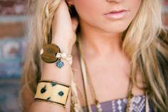 #johnnylovesjune #leather #cuff #bracelet #bohojewelry #bohemian  Amy Konieczka Photography