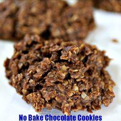 No Bake Chocolate Cookies Recipe http://cookinginbliss.com/no-bake-chocolate-cookies-recipe/ #recipes #cookies