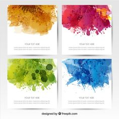 Watercolor poster collection Free Vector