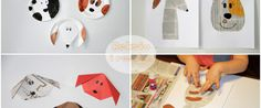 Reksio i reszta! Prace z gazet i papierowych talerzy