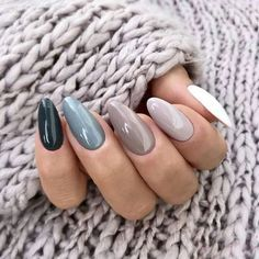 Long acrylic nails are too sharp, and short nails are too ordinary? Then you need almond nails, which are of moderate length. Almond nails are named after their shape similar to almonds. Easy Nails, Cute Nails, Pretty Nails, Cute Simple Nails, Simple Acrylic Nails, Cute Nail Art, Perfect Nails, Solid Color Nails, Nail Colors