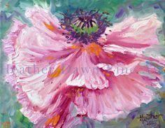 Dancing Poppy oil on canvas