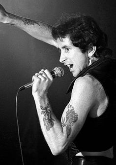 Bon Scott: choking on puke after an all night drinking binge may sound like a cool topic for an AC/DC song, but it's a shitty way to leave a band that's about to break big worldwide.