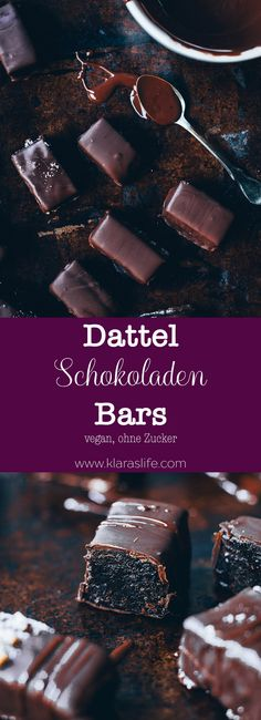 Dattel Schokoladen Bars Delicious truffles made from dates and nut butter covered with dark chocolat Healthy Meals For One, Healthy Deserts, Healthy Dessert Recipes, Vegan Desserts, Breakfast Hotel, Paleo Breakfast, Food And Drink Quiz, Quick Easy Desserts, Ketogenic Diet Food List
