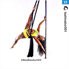 Pole, silks, and PoleFit® combo! Gorgeous! Repost @tashinator001 ・・・