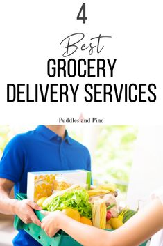 These grocery delivery services will make your life so much easier! Amazon, instacart, shipt and peapod will conveniently deliver groceries right to your door! Grocery Home Delivery, Meal Delivery Service, Delivery Food, Meal Service, Monthly Meal Planning, Fruits Photos, In Season Produce, Save Money On Groceries, Meals For The Week