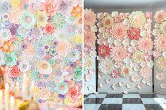 20 ideias de decoração com flores de papel para a festa de 15 anos - Constance Zahn   15 anos