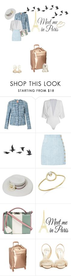 """Paris Travel Photography Spring Along the Seine, Notre Dame, Cherry Bl"" by luisa-vic ❤ liked on Polyvore featuring Vilagallo, WithChic, Jayson Home, Balmain, Chanel, ZoÃ« Chicco, Mark Cross, Brewster Home Fashions, Lipault and Olgana"