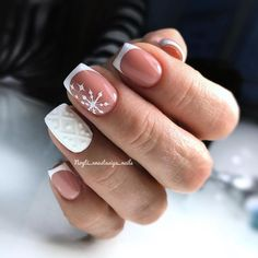 41 best winter nails design in 2020 page 5 Hot Nail Designs, French Nail Designs, Winter Nail Designs, Winter Nail Art, French Nails, Hot Nails, Hair And Nails, Sweater Nails, Christmas Nail Art