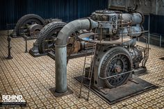 A small power plant in Belgium that houses three classic turbines from the early The turbine hall has been restored to a high standard. Turbine Hall, Beam Structure, Industrial Machinery, Old Factory, Central, The Old Days, Fortification, Machine Design, Photo Reference
