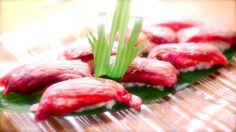 Japanese gastronomy -Sushi de wagyu- www.iloli-restaurant.com