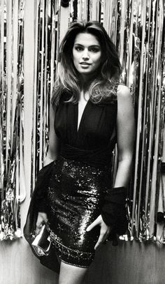 Cindy Crawford look années 80