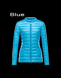 Moncler Dali Women Full Zip Ultralight Padded Jacket Skyblue France