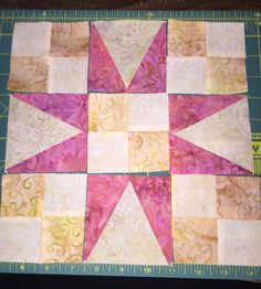 Clues 1 & 2 - Bonnie K Hunter 2016 En Provence Mystery Quilt - by Liz Feitelberg, Quincy, MA