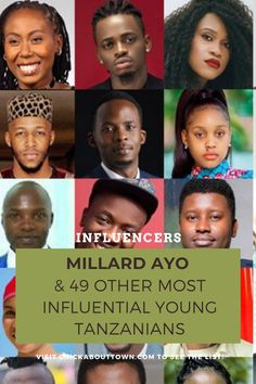 Do you want to know who the current most influential young Tanzanians are? If so, click here to find out who made it alongside Millard Ayo this year. Aston Villa Fc, Civil Society, English Premier League, I Win, Co Founder, Tanzania, Science And Technology, Comedians, Personal Development