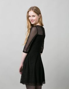 BSK lace dress. Discover this and many more items in Bershka with new products every week