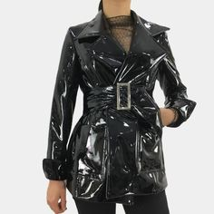 Leather Trench Coat, Leather Blazer, Patent Trench Coats, Pu Leather, Coats For Women, Jackets For Women, Vinyl Raincoat, Pvc Raincoat, Custom Leather Jackets